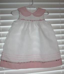 white_ pink dress